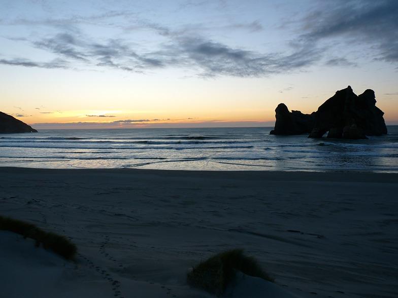 Wharariki Sunset, Wharariki Beach