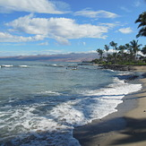 Summer surf on Big Island Hawaii, Kona Tiki