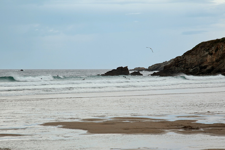 Incoming tide, Playa de Penarronda