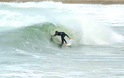 Eilir a member of the Davies-Hughes Surf Dynasty, Whistling Sands (Porth Oer) photo