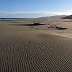 Vast expanse of sand at Herbertville