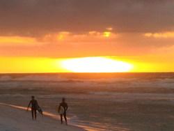 sunrise and swell over Navarre Beach, Navarre Beach Pier photo