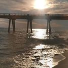 sunset under the pier, Navarre Beach Pier