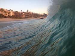 Catched wave, Laguna Beach photo