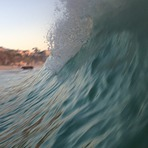 Catched wave, Laguna Beach
