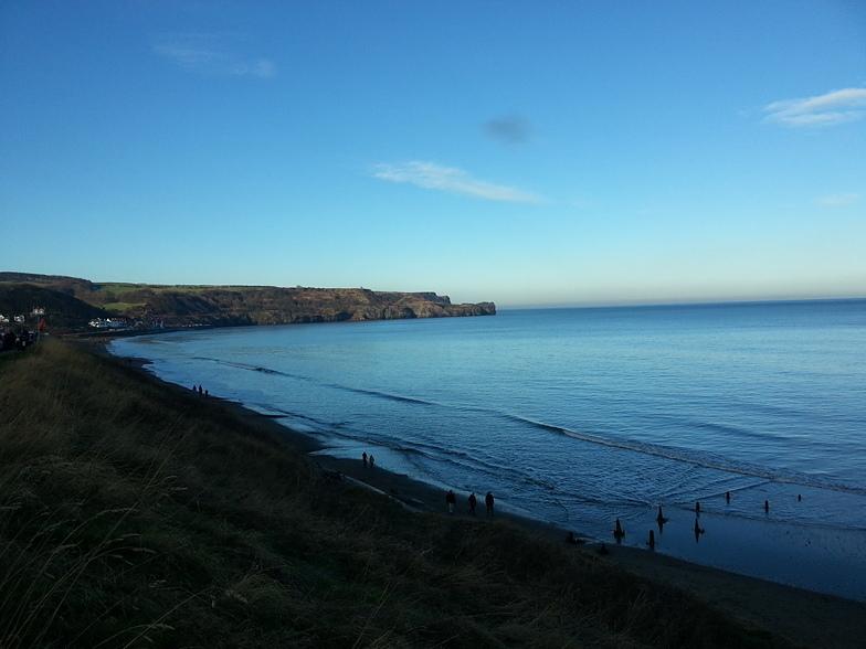 flat Christmas, Sandsend Bay