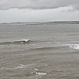 Starting to work on a very full tide, Ogmore-by-Sea