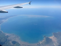 From a Wellington-Sydney Flight, Farewell Spit photo