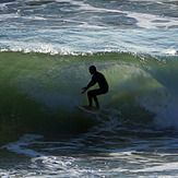 Nice tube ride, Royal Palms State Beach