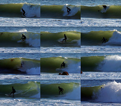 Another tube ride, Royal Palms State Beach photo