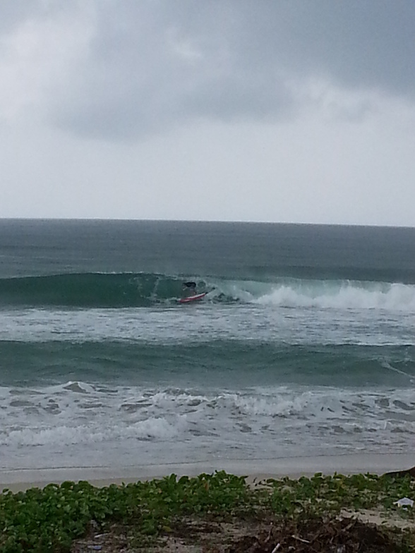 Nice small waves at the beach, Kudat (Pantai Kosuhui)