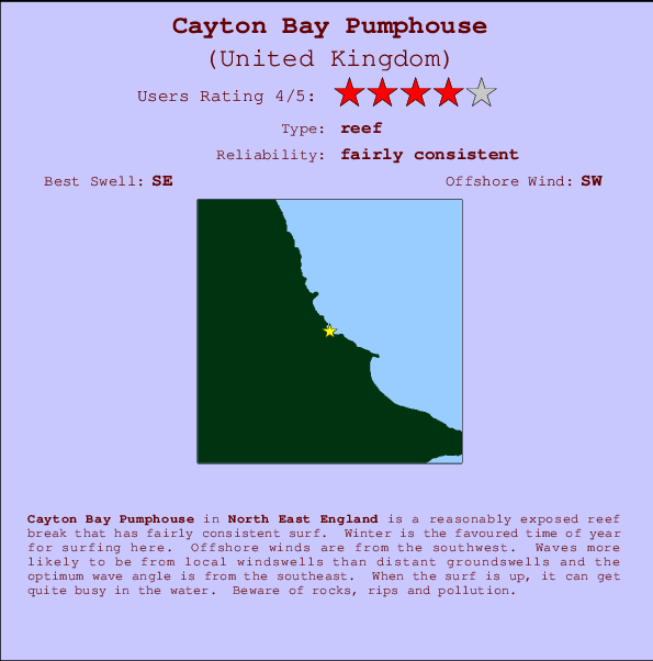 Cayton Bay Pumphouse break location map and break info