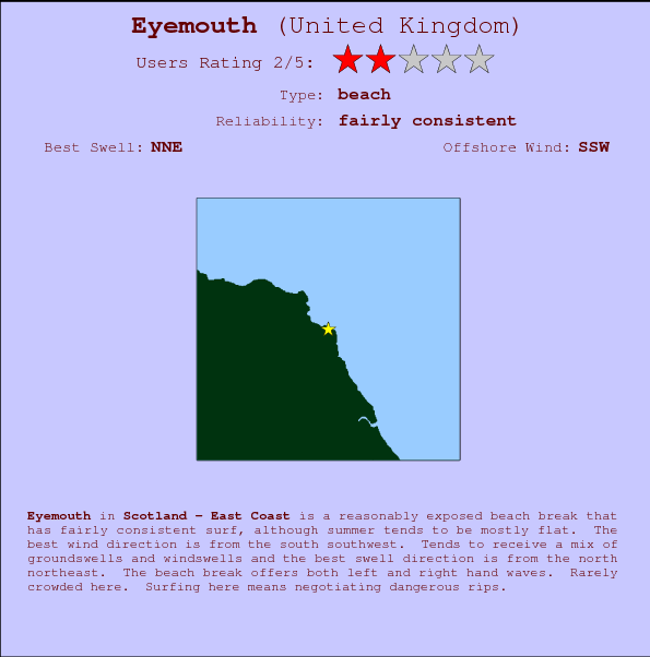 Eyemouth break location map and break info