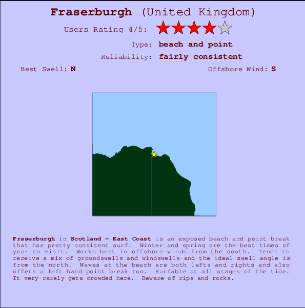 Fraserburgh break location map and break info