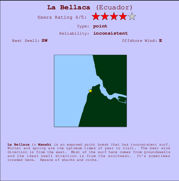 La Bellaca break location map and break info