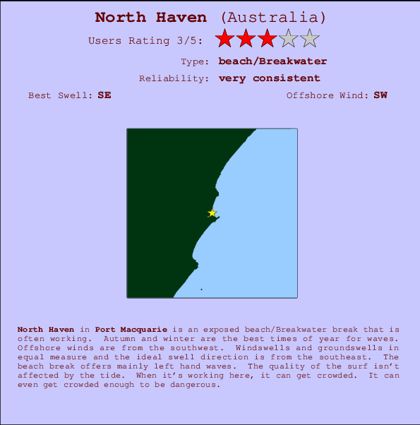 North Haven break location map and break info