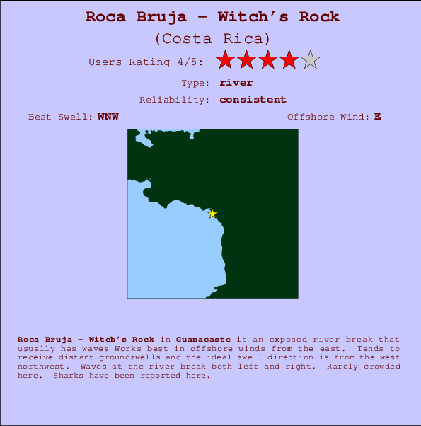 Roca Bruja - Witch's Rock break location map and break info