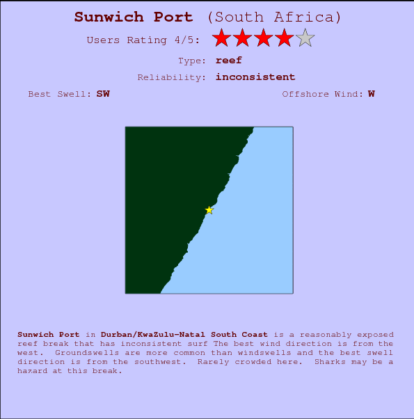 Sunwich Port break location map and break info
