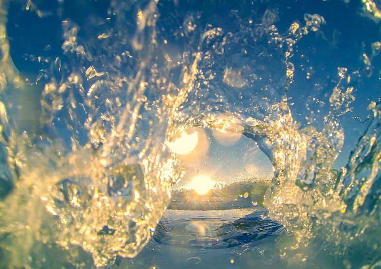 Sun in the center, Nahant Beach