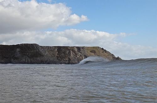Three cliffs, the odd peak formed well., Three Cliffs Bay