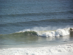 Brenton on Sea, big swell, SE cross offshore., Buffalo Bay Wildside photo