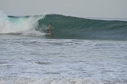 a barrel, Playa Grande photo