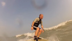 Surfing in Kuwait - between Mangaf & Messilah photo