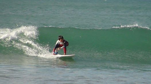Perfect condition for a grom, Orewa Beach
