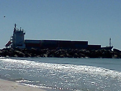 shipping lane through the jetty, St Andrews State Park photo