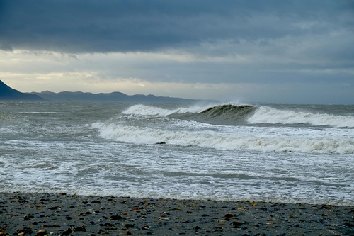 Onekaka Wharf Stormy Sea