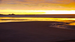 St Ouens Bay at sunset, St Ouen's Bay - Watersplash photo