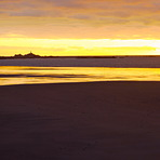 St Ouens Bay at sunset, St Ouen's Bay - Watersplash