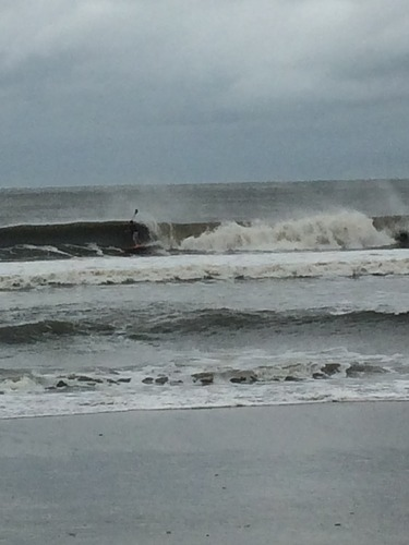 SUP after Arthur 2, Ocean Isle Beach/Pier