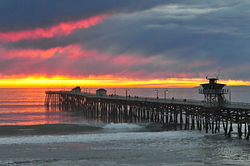 Stormy Sunset, San Clemente Pier photo