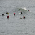social gathering, Aberwystwyth Beach