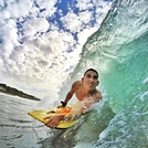 Miguel Ortiz getting barreled at El Chinchorro, Red Beach