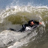 Bodyboarder's Ripping It at Jenkin's Beach, New Jersey, Jenkinsons (Point Pleasant Beach)