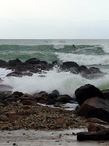 surfing hurricane Marie, El Anclote