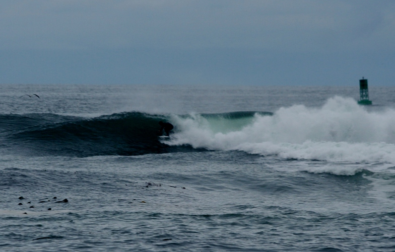 Surfing outer reef at Slip Point, WA, Slip Point (Clallam Bay)