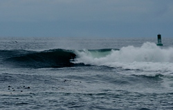 Surfing outer reef at Slip Point, WA, Slip Point (Clallam Bay) photo