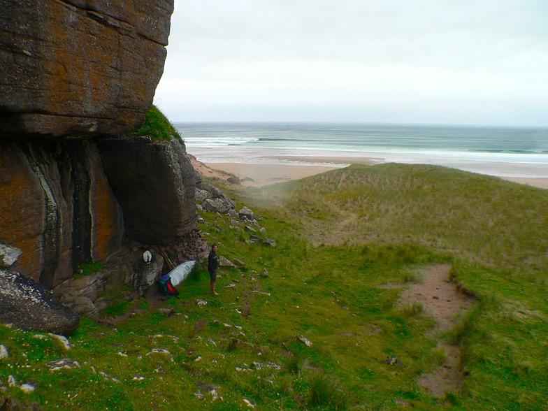 Camping spot at Sandwood Bay