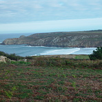 View over the bay from left hill, Baie des Trepasses