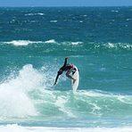Sergio Cavalcante surfing his home break, Praia do Futuro