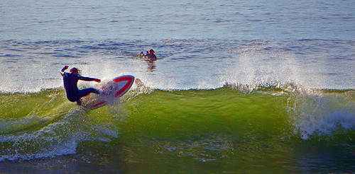 Morning carve, Broad Cove
