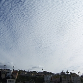 Looking east, alto cumulus clouds, Gillis