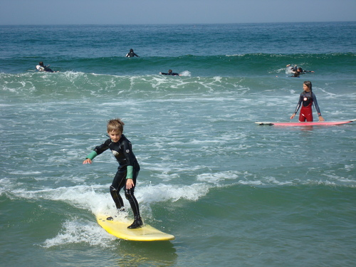 Learning to surf in Esposende