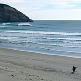Cyclone Pam swell -day 2, Wharariki Beach