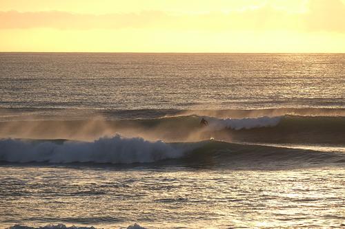 Easterly swell at Wainui, Wainui Beach - Schools