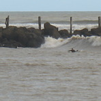 Small Autmumn swell on the river, Wanganui River Mouth