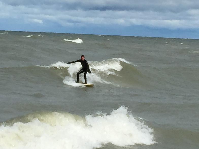Erie surf break